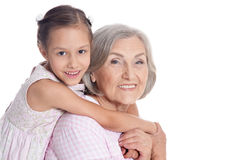 Grandmother with her cute  granddaughter Royalty Free Stock Images