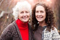 Grandmother with her daughter Stock Photos