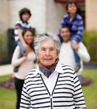 Grandmother with her family Stock Photo