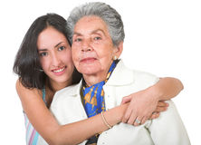 Grandmother and her grandchild Stock Image