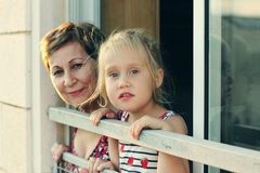 Grandmother with her grandchild Stock Image