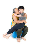 Grandmother with her grandchild Royalty Free Stock Photos