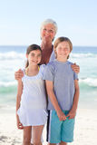 Grandmother with her grandchildren Stock Photography