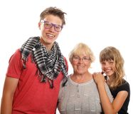 Grandmother with her grandchildren Stock Photo