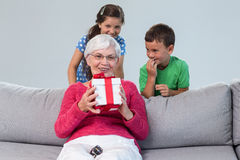 Grandmother and her grandchildren Royalty Free Stock Photo