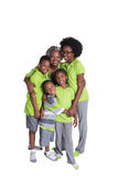 A grandmother and her 4 grandchildren Stock Image