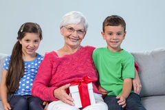Grandmother and her grandchildren Royalty Free Stock Photos