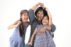 Grandmother with her grandchildren Royalty Free Stock Photography