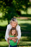 Grandmother and her granddaughter Stock Image