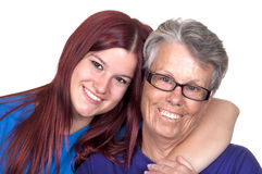 Grandmother with her granddaughter Royalty Free Stock Photo