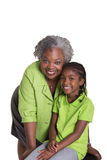 A grandmother and her granddaughter Royalty Free Stock Image