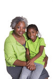 A grandmother and her granddaughter Royalty Free Stock Photo