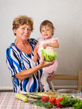 Grandmother with her granddaughter Royalty Free Stock Photography