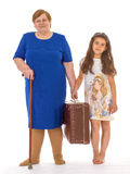 Grandmother with her granddaughter Stock Photo
