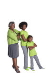 A grandmother and her 2 granddaughters Stock Photo