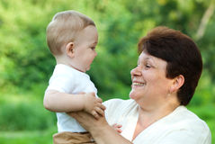 Grandmother with her grandson Royalty Free Stock Photography