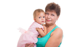 Grandmother with her grandson Stock Photography