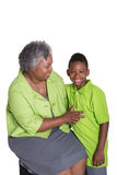 A grandmother and her grandson Stock Photos