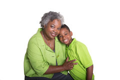 A grandmother and her grandson Royalty Free Stock Photography