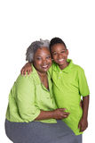 A grandmother and her grandson Royalty Free Stock Image