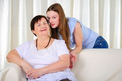 A grandmother with her young granddaughter Royalty Free Stock Photography
