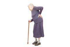 Grandmother Holding A Cane Stock Images