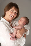 Grandmother Holding Newborn Baby Royalty Free Stock Photo