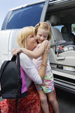 Grandmother Hugging Daughter Stock Images