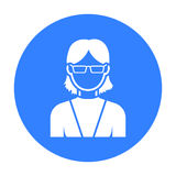 Grandmother icon. Single avatar, icon from the big avatar. Royalty Free Stock Image