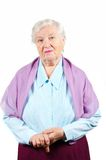 Grandmother. Isolated. Royalty Free Stock Images