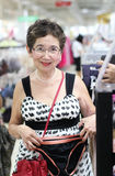 Grandmother at the mall Stock Photography