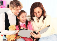 Grandmother, mother, and daughter Royalty Free Stock Images