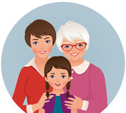 Grandmother, mother and daughter Stock Photo