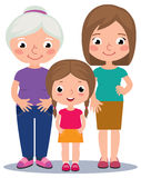 Grandmother mother and daughter stock illustration