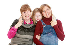 Grandmother, mother and granddaughter Stock Image