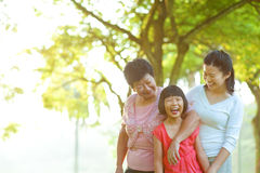 Grandmother, mother and me. At outdoor park Royalty Free Stock Photography