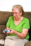 grandmother playing Στοκ φωτογραφία με δικαίωμα ελεύθερης χρήσης