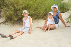 Grandmother playing with her grandchildren Royalty Free Stock Images