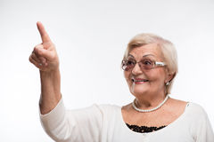 Grandmother posing in sunglasses Stock Images