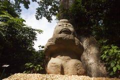 Grandmother rock carving sculpture Olmec,La Venta Park. Villahermosa,Tabasco,Mexico