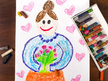 Grandmother's day card Stock Images
