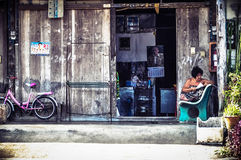 Grandmother's home. Old town in thailand ,Takuapa ,PhangNga Royalty Free Stock Photo