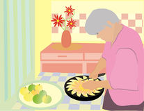Grandmother's pie Stock Photography