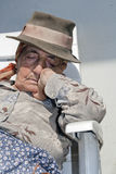 Grandmother sleeps Royalty Free Stock Photography