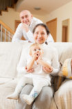 Grandmother with  son and grandaughter Stock Image