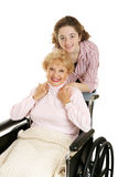 Grandmother & Teen Royalty Free Stock Photo