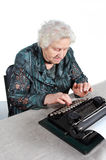 Grandmother typewriter Stock Photo