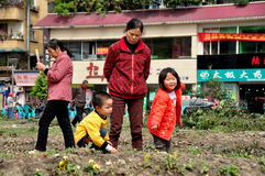 Pengzhou, China: Grandmother with Children Royalty Free Stock Photography