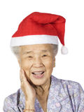 Grandmother3. My grandmother happy smiling with white background Royalty Free Stock Photos