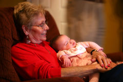 Grandmotherly Love Royalty Free Stock Image